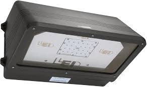 led outdoor area flood light full cutoff wall pack fixtures