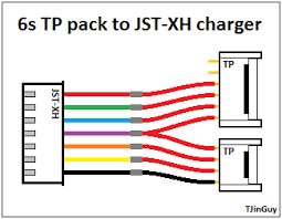 rc wiring diagrams and such tjintech 6s tp pack to jst xh charger