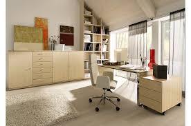 office room design ideas. Office:Contemporary Minimalist Office Room Design With Clear Glass Doors And Built In Wall Shelves Ideas L