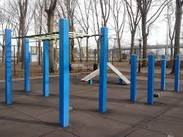 given the proximity to a first class running track this workout location is one of the most comprehensive outdoor fitness locations in new york city