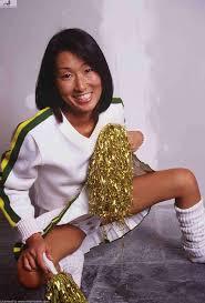 Nude Japanese girl in cheerleader uniform