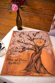 Tree Themed Wooden Board Guest Signing Wedding Guest Tree