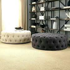 round leather tufted ottoman. Round Leather Ottoman Coffee Table Tufted