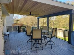 timbertech with lean to roof deck and