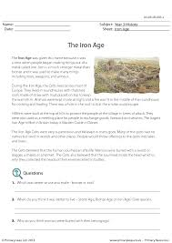 Comprehension - The Iron Age