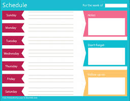 Clean Bold Printable Weekly Schedule Planner Free