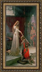 edmund blair leighton the accolade framed print