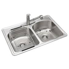 vt3322h 33 3 hole double bowl kitchen sink all in one drop
