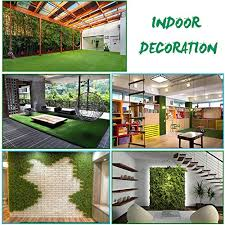 agool artificial grass rug synthetic turf fake carpet mat easy care rubber backed with drainage holes lawn area pet pad mat garden doormat for outdoor