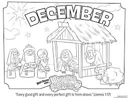 Christmas Nativity Coloring Pages For Kids With December Coloring