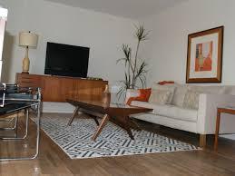Mid Century Modern Living Room Furniture Mid Century Modern Living Room Rectangle White Laminated Top