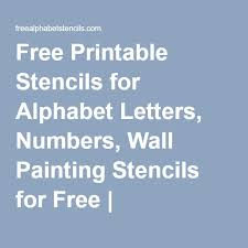 free printable stencils for alphabet letters numbers wall painting stencils for free freealphabetstencils
