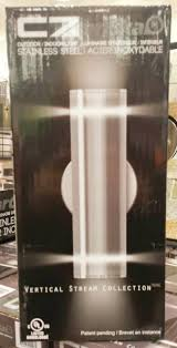 artika c7 indoor outdoor vertical light fixture stainless steel finish