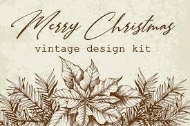 Vintage Design Merry Christmas Vintage Design Kit