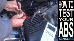 abs light on how to test abs sensor multimeter car repairs abs light on how to test abs sensor multimeter car repairs brakes anti lock braking system
