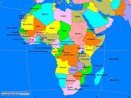 africa african continent political map  a learning family