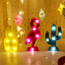 3d Flamingo Led Lamp Decorative Marquee Signs Letter Flamingo Night