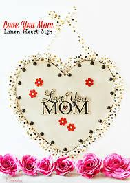 diy love you mom sign