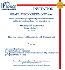 Graduation Ceremony Invitation Cloveranddot Com