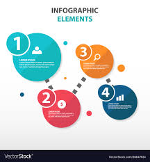 Abstract Circle Flow Chart Business Infographics