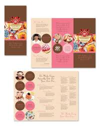 What Is A Pamphlet Sample Bakery Cupcake Shop Menu Template Word Publisher Bakery Pamphlet