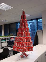 office christmas trees. At Last Finished, Here Is The Coke Can Christmas Tree Sitting In Office: Office Trees