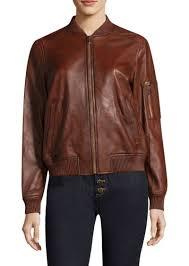 michael michael kors washed leather er jacket
