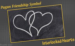 pagan friendship symbol interlocked hearts