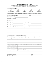 Accident Report Sheet Template