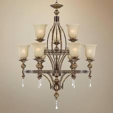 franklin iron works bennington collection light chandelier