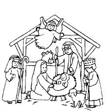 Christmas Nativity Coloring Pages Free At Getdrawingscom Free For