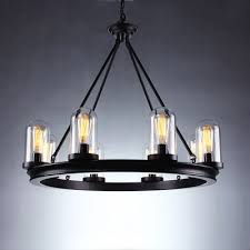 8 light round black finish 32 inches wide chandelier with regard to new household black round chandelier remodel