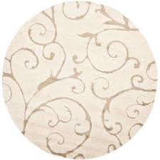 florida cream beige 8 ft x 8 ft round area rug