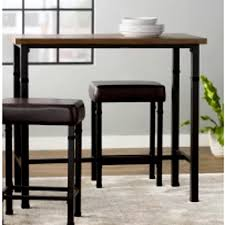 Amazoncom Narrow Pub Table Set Industrial Furniture Tall Black