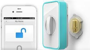 front door keyless entryLockitron a smartphonecontrolled renterfrienldy keylessentry