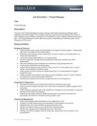 Project Management Roles And Responsibilities Template Projectnager Job Description Sample Assistant Roles And 1