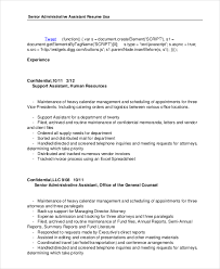 senior administrative assistant resume template general counsel resume
