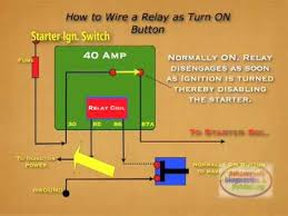 how to wire relay starter kill switch youtube Electric Fan Relay Wiring Diagram at Bosch Relay Wiring Diagram 562t