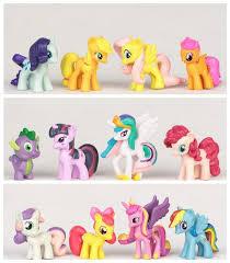 <b>12pcs</b>/<b>set My</b> Little Pony Rainbow Dash <b>Cute</b> Toys Horse Model for ...