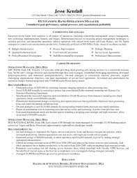 Sample Resume For Operations Manager In Banking New Operations