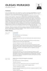 Informatica Architect Resume Bestsellerbookdb