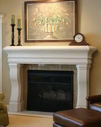 white wood fireplace mantels