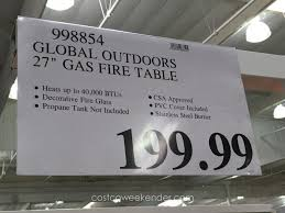 gas fire pit tables costco room decoration idea