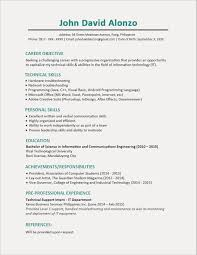 Information Technology Resume Objective Soft Skills Resume