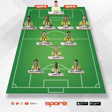 Fenerbahçe-Kasımpaşa Muhtemel Kadro Sporx İlk11