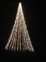 How To Make Outdoor Christmas Tree Out Of Lights Huge Light Christmas Tree 4 Steps Instructables