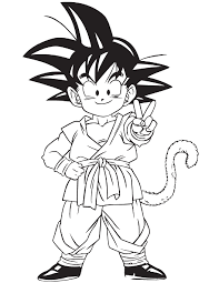 free dragon ball z coloring page to print and color
