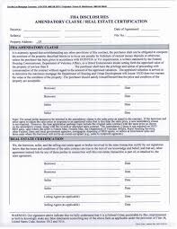Required Dates On Fha Amendatory Clause Real Estate Ce