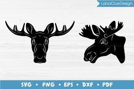 850x850 deer head svg elk head vector clip art t shirt design hunting etsy. Moose Head Svg 2 Designs 734341 Cut Files Design Bundles