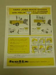 Chore Carts Details About Vintage Helix Chore King All Purpose Dump Carts Spec Sheet Sales Brochure